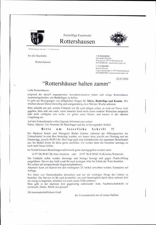 Bürgerhilfe Rottershausen.