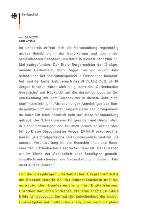 Oerlenbacher Gespräche 2021 abgesagt - Seite 3